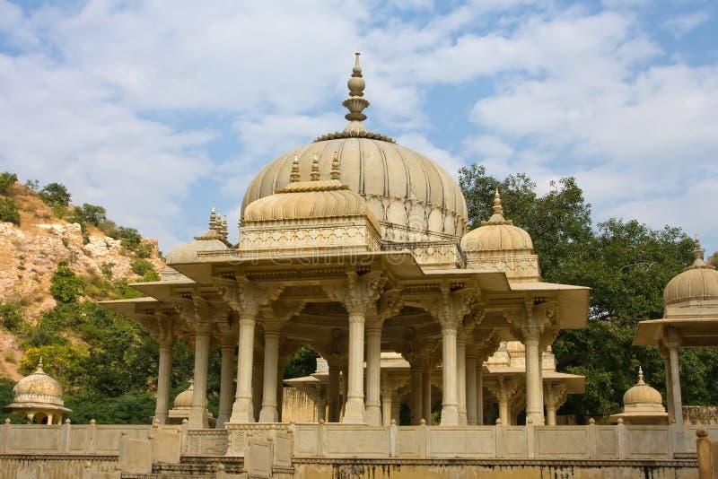 Gatore Ki Chhatriyan, Jaipur, Rajasthan, Indien. arkivbild