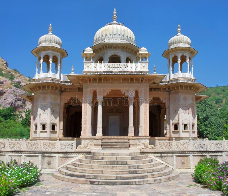 Gatore Ki Chhatriyan, Jaipur, Rajasthan, Indien. arkivfoton