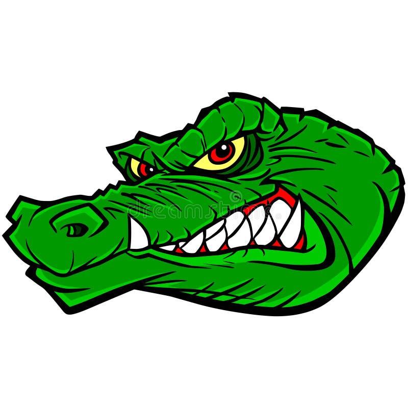 Gatormascotte vector illustratie