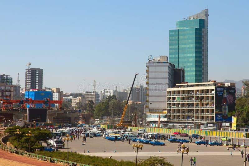 Gatorna av Addis Ababa Ethiopia fotografering för bildbyråer