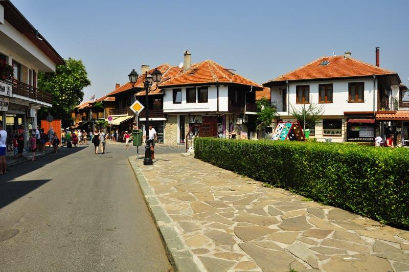 Gatorna av Nessebar royaltyfria bilder
