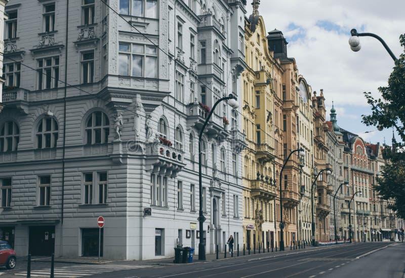 Gatorna av Prague royaltyfri foto