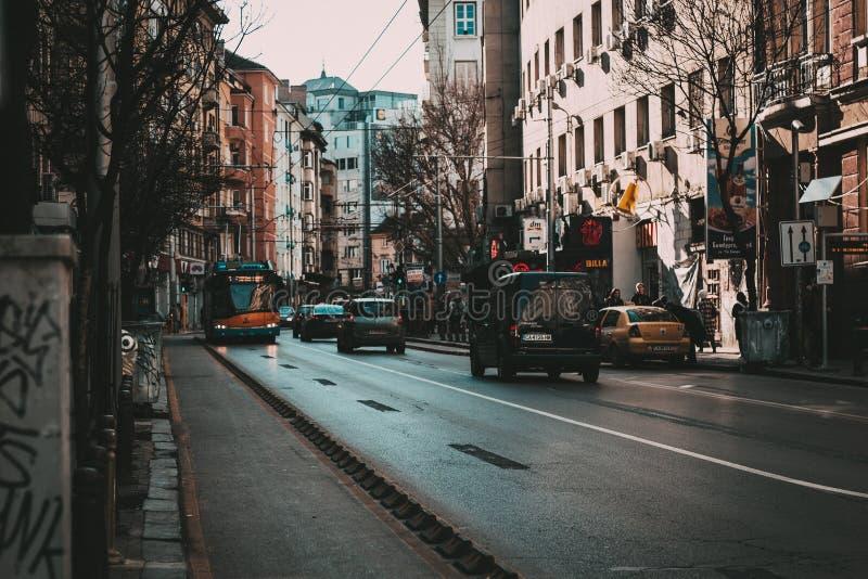 Gatorna av Sofia arkivbilder