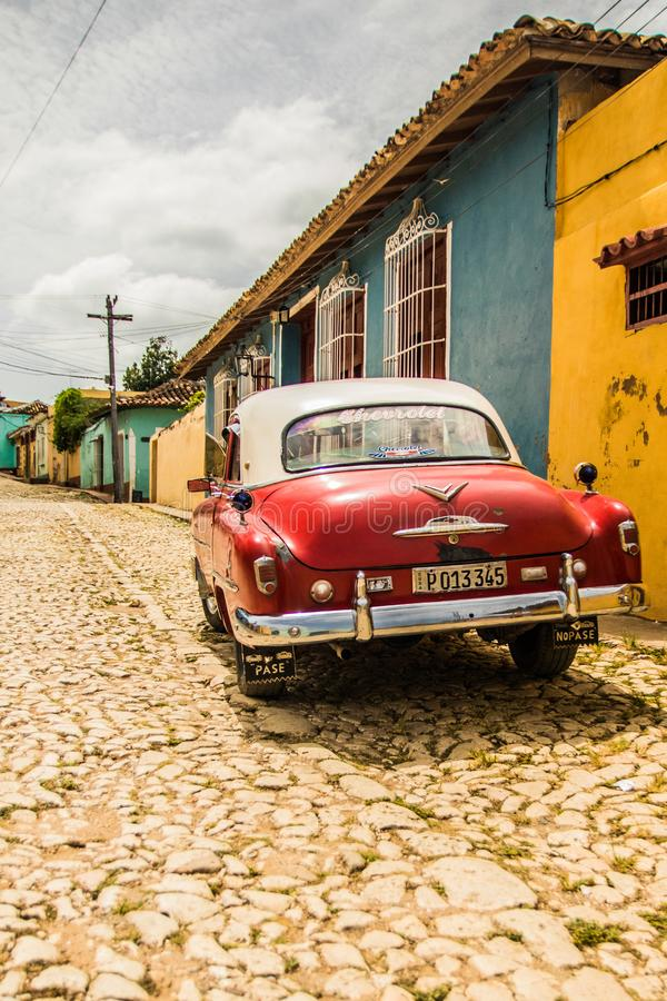 Gatorna av Trinidad under dagtid royaltyfria bilder