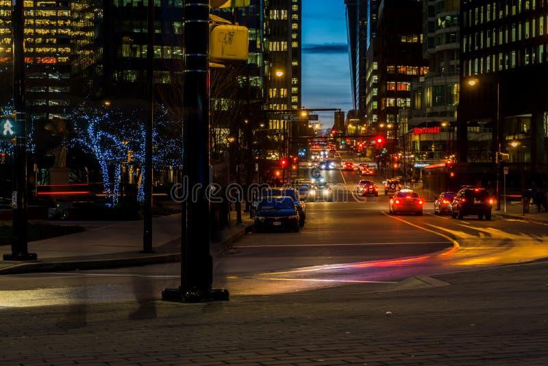 Gatorna av Vancouver arkivfoton