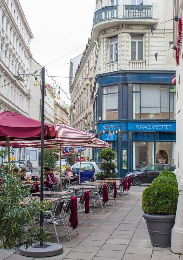 Gatorna av Wien Gatafoto fotografering för bildbyråer