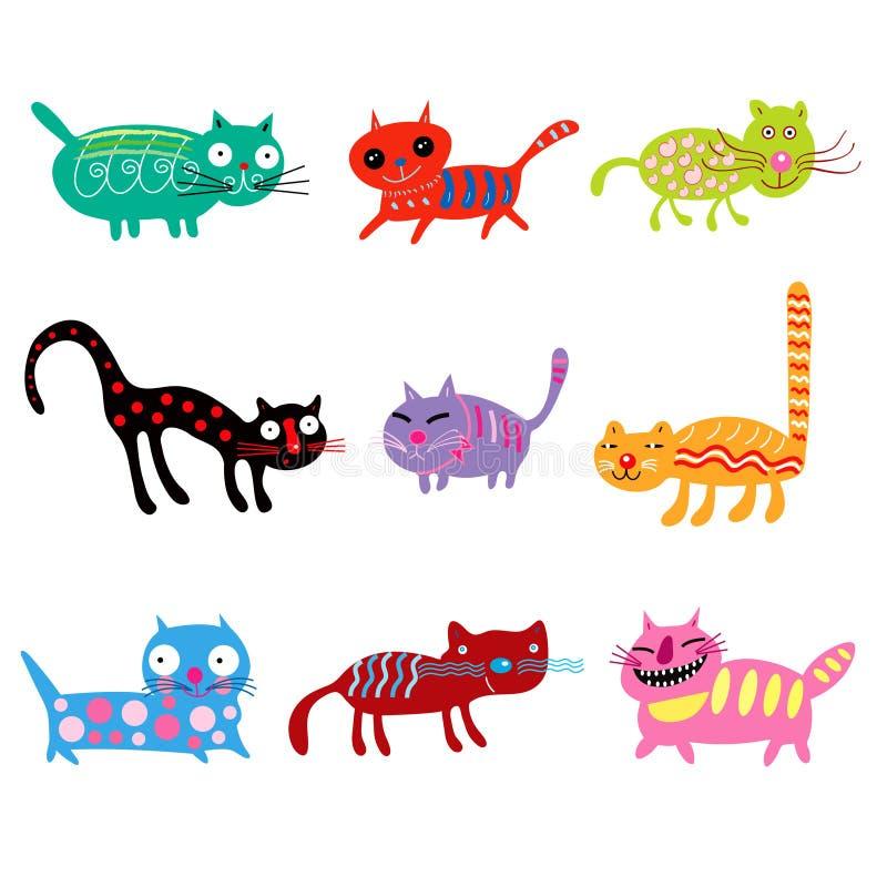 Gatos alegres ilustração stock