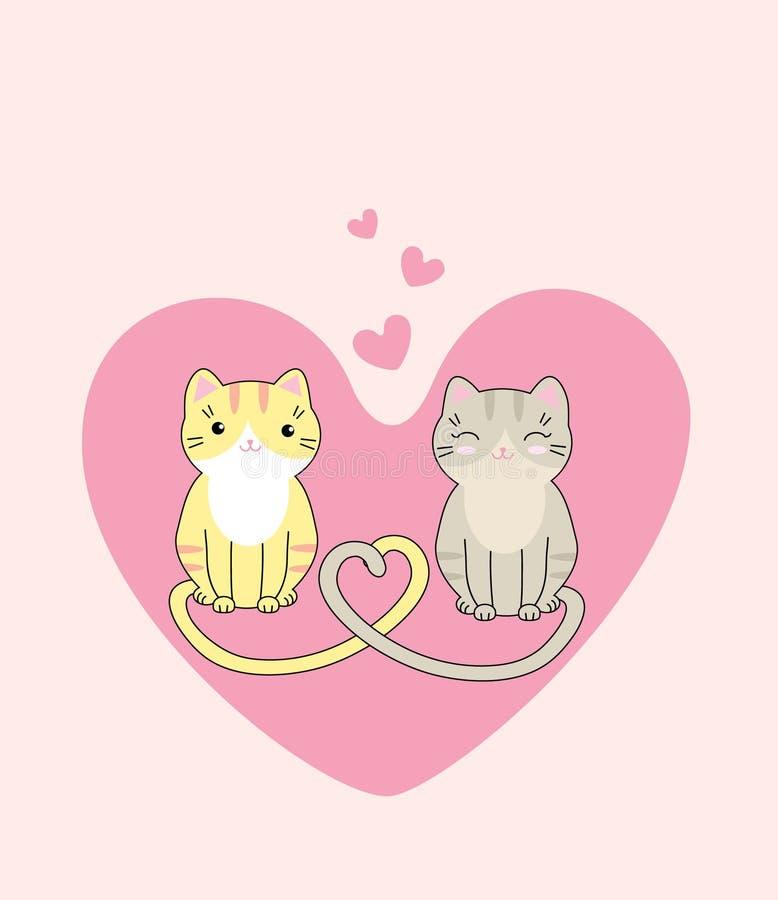 Gatos bonitos no amor fotografia de stock royalty free