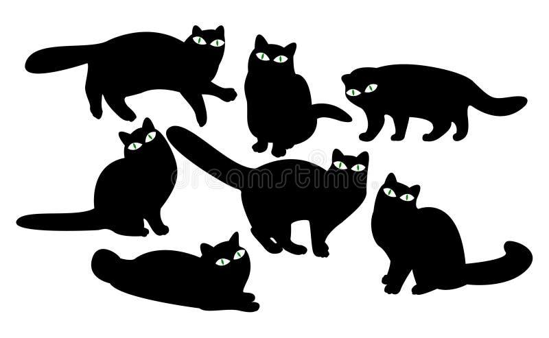 Gatos com olhos ilustração do vetor