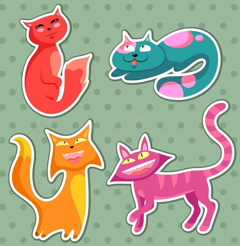 Gatos de la historieta stock de ilustración