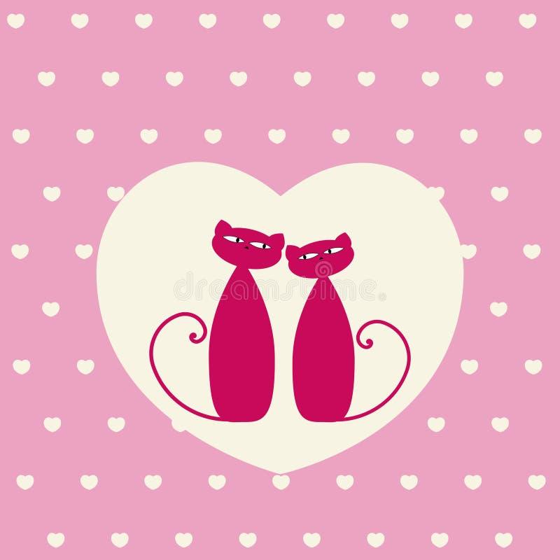 Gatos del amor libre illustration