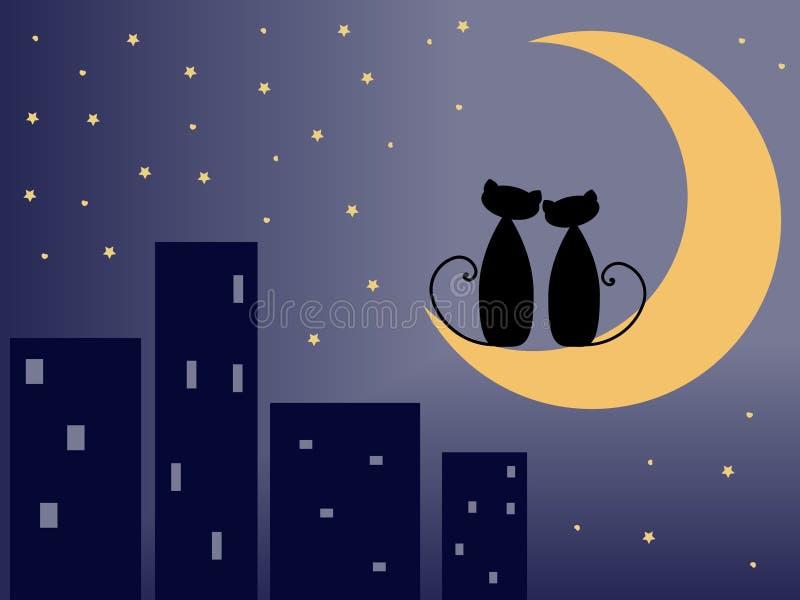Gatos del amor stock de ilustración