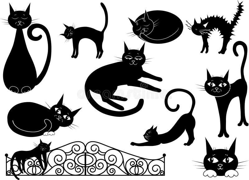 Gatos diversos stock de ilustración