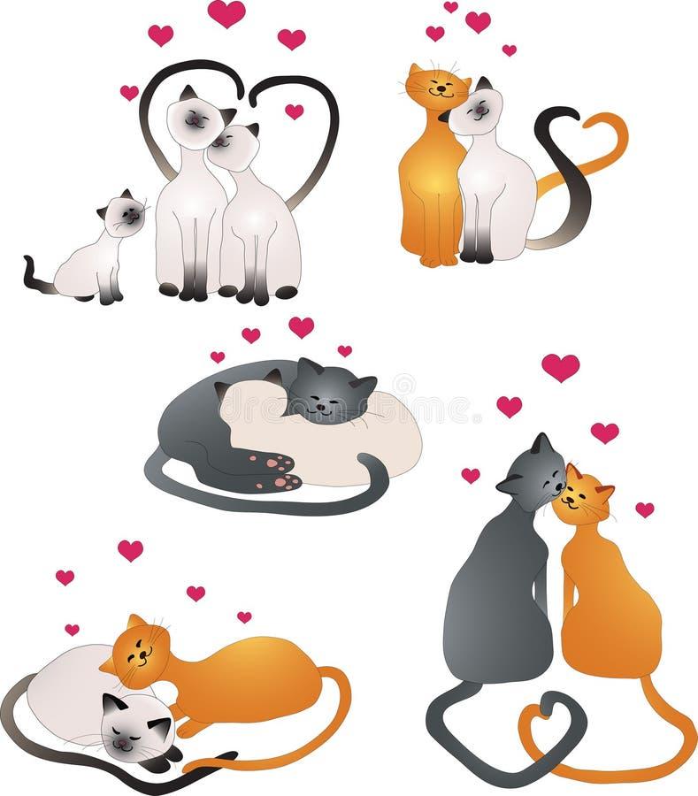 Gatos do amor ilustração stock
