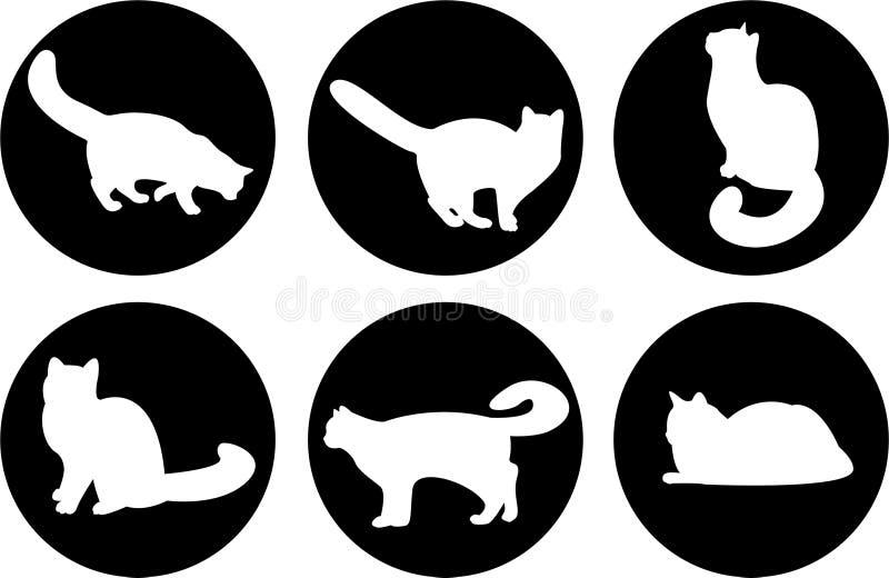 Gatos do logotipo ilustração royalty free