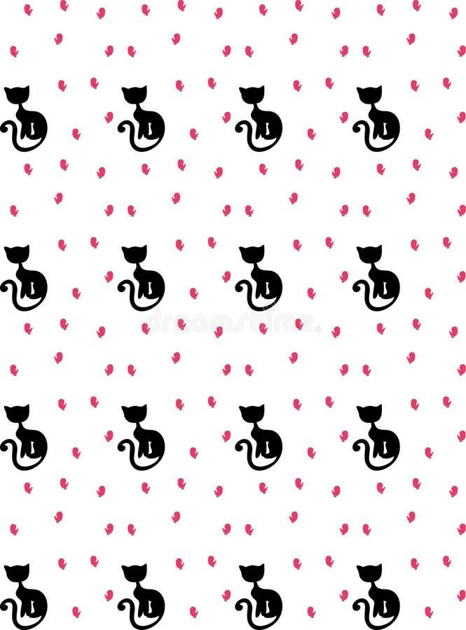 Download Gatos e pássaros ilustração do vetor. Ilustração de silhueta - 12812320