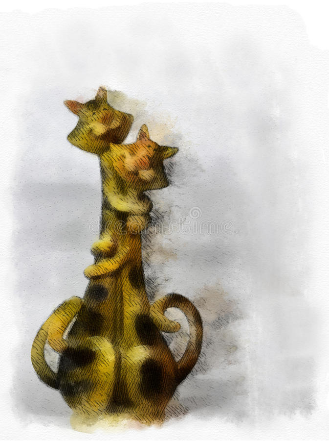 Gatos mimosos libre illustration