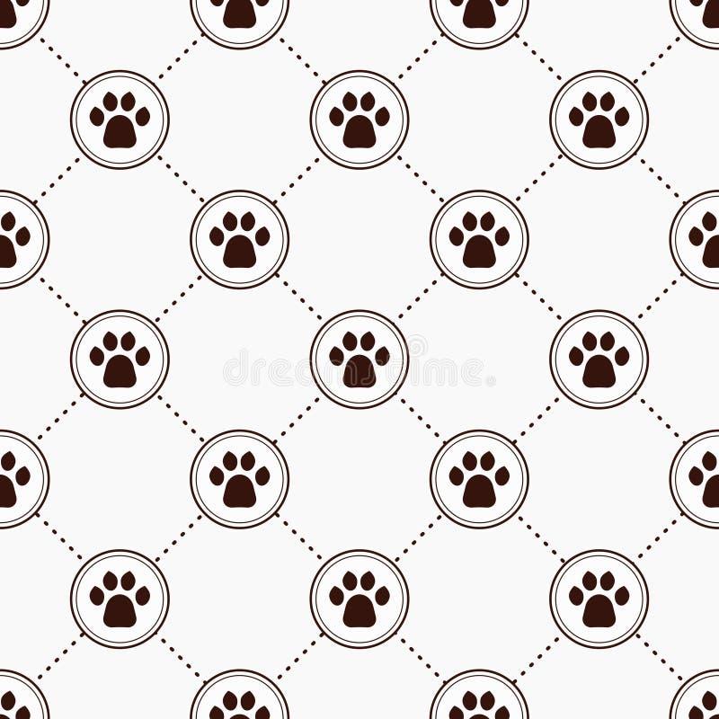 Gatos Paw Print ilustración del vector