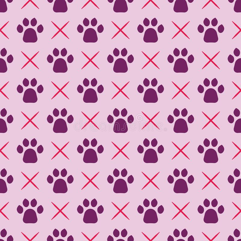 Gatos Paw Print stock de ilustración