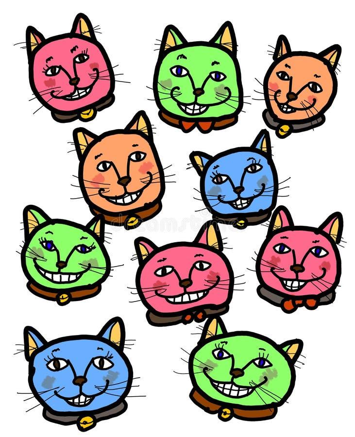 Gatos sonrientes alegres felices libre illustration