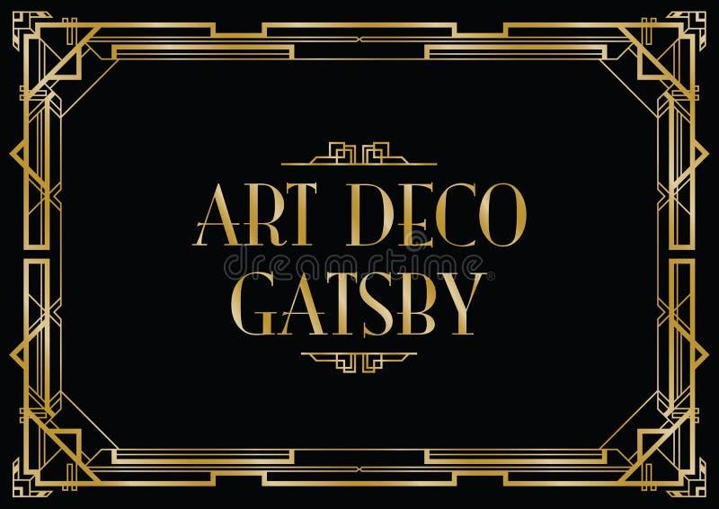 Gatsby art déco stock illustrationer