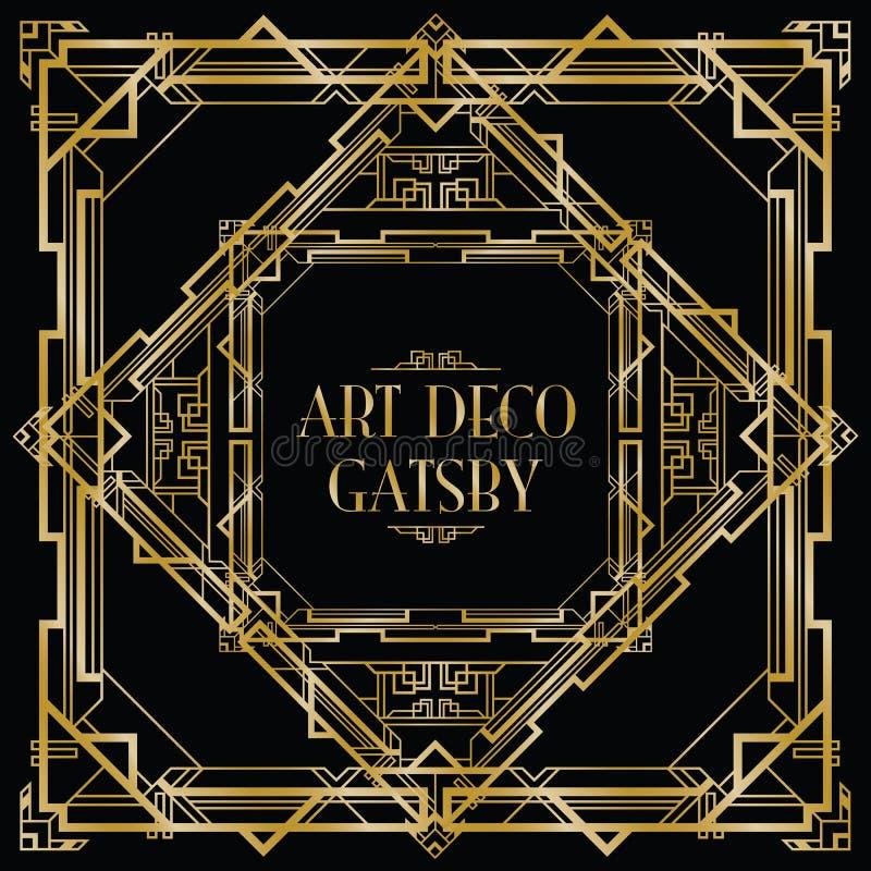 Gatsby art déco vektor illustrationer