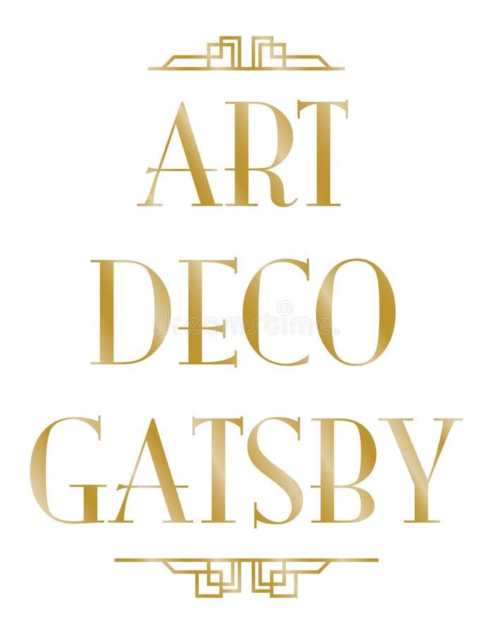 Gatsby art déco royaltyfri illustrationer
