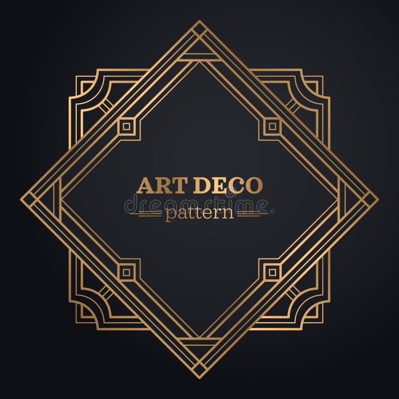 Gatsby-Art- DecoHintergrund lizenzfreie abbildung