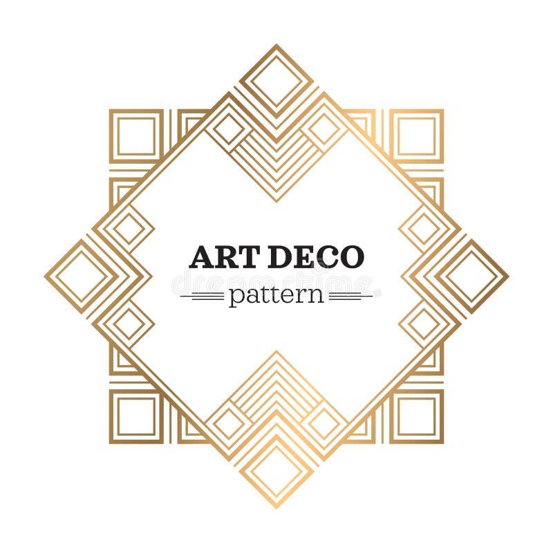 Gatsby-Art- DecoHintergrund stock abbildung