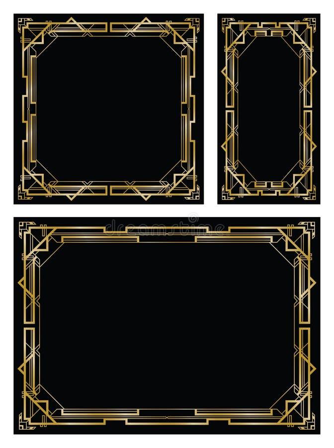 Gatsby bakgrunder för art déco vektor illustrationer