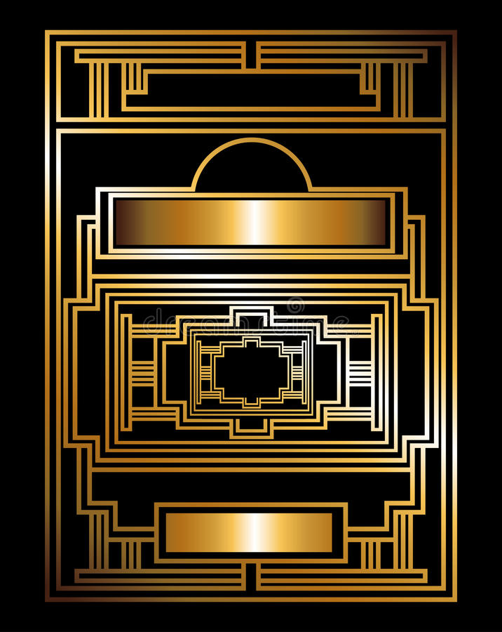 Gatsby design vektor illustrationer