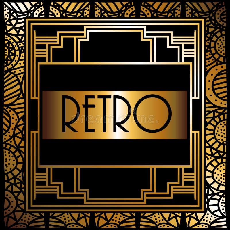 Gatsby design royaltyfri illustrationer