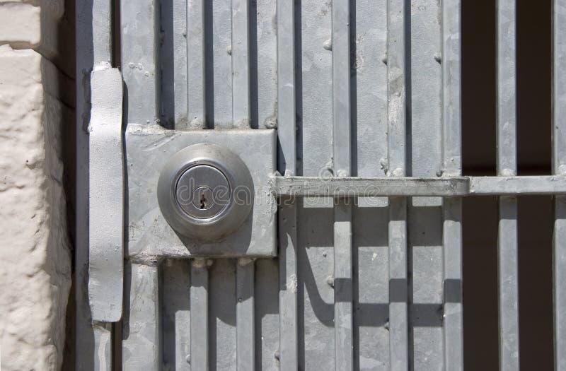 Gatter-Verriegelung lizenzfreies stockbild