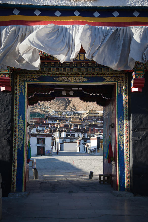 Gatter von Tibet lizenzfreie stockfotografie
