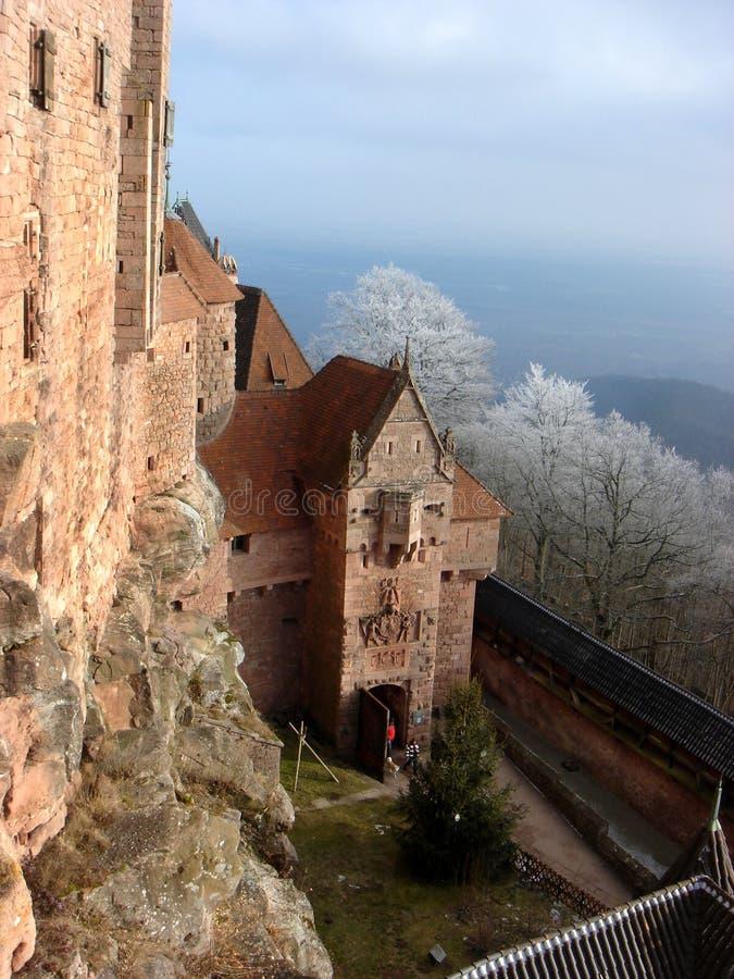 Gatter zum Schloss stockfotos