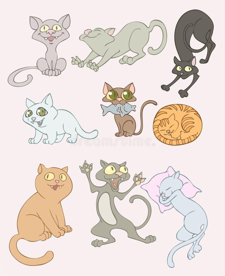 Gatti illustrazione vettoriale