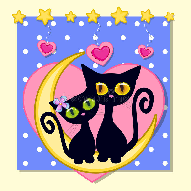 Gatti degli amanti royalty illustrazione gratis