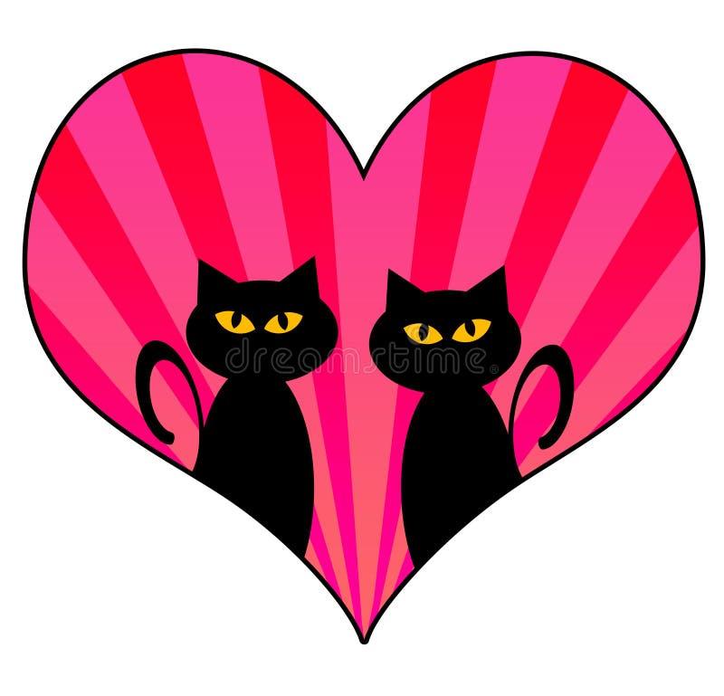 Gatti di amore royalty illustrazione gratis