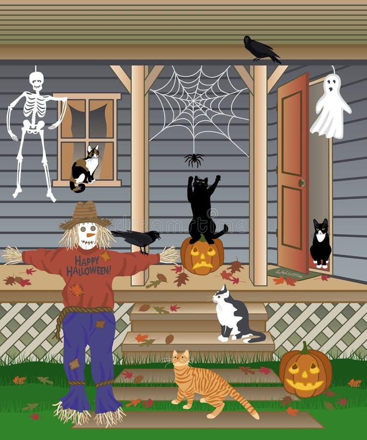 Gatti di Halloween royalty illustrazione gratis