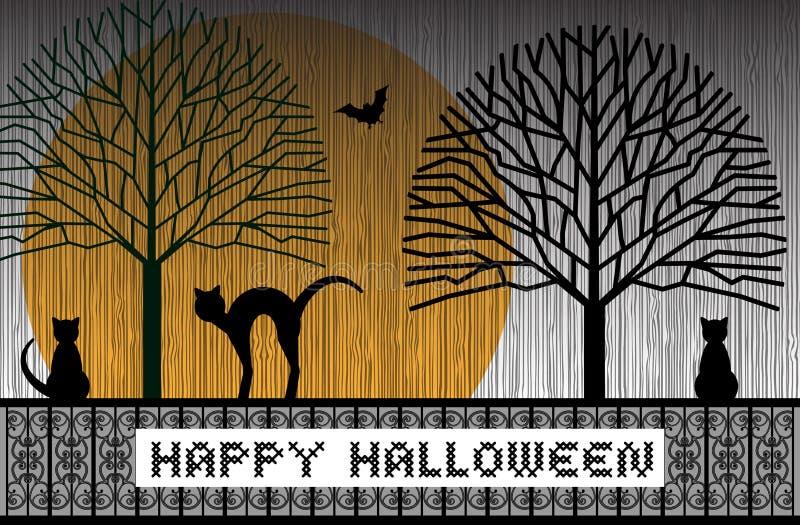 Gatti felici di Halloween illustrazione vettoriale