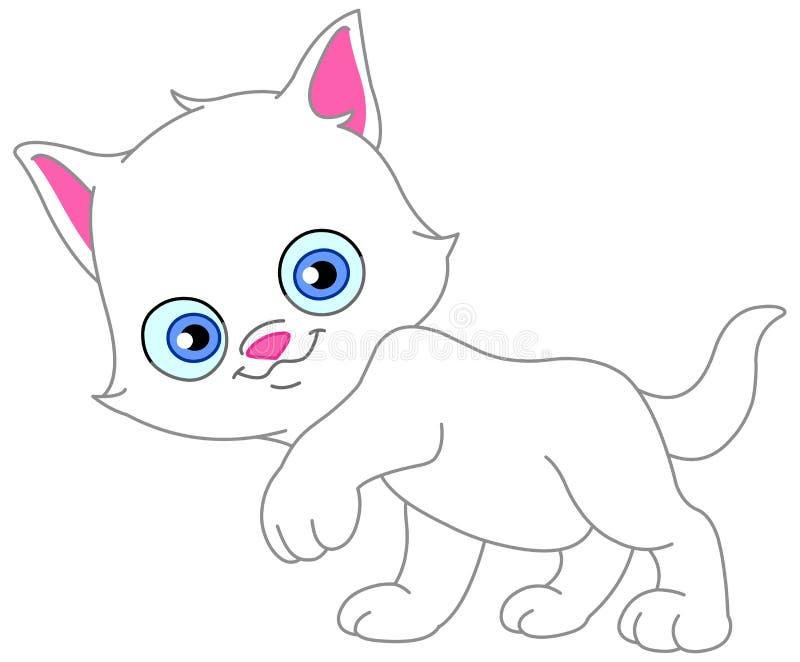 Gattino bianco illustrazione di stock