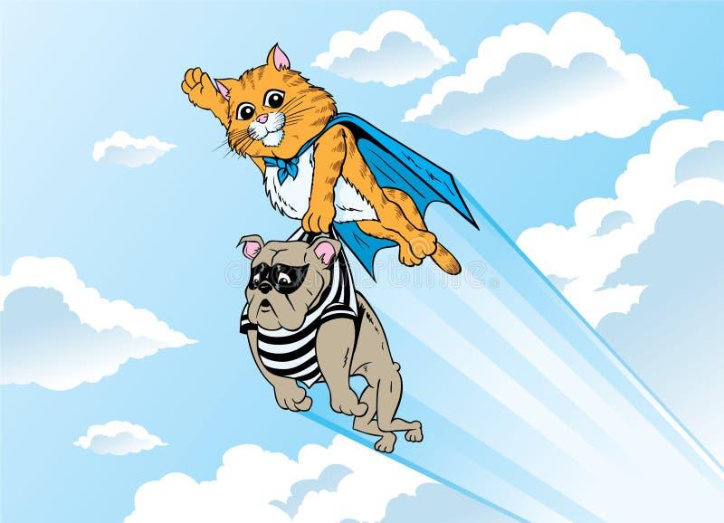 Gattino del supereroe royalty illustrazione gratis