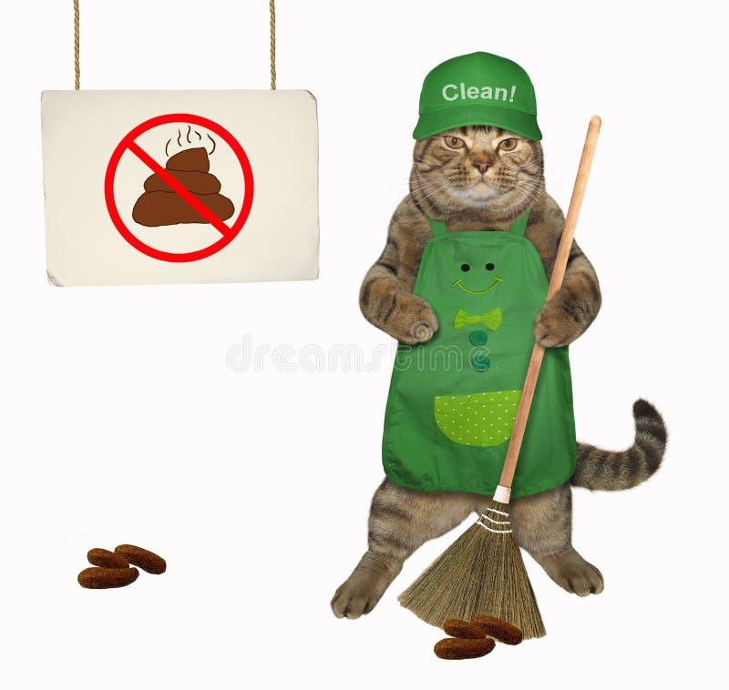 Gatto che pulisce la poppa dell'animale domestico immagine stock
