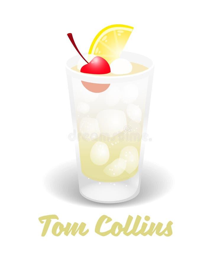 Gatto collins del cocktail royalty illustrazione gratis