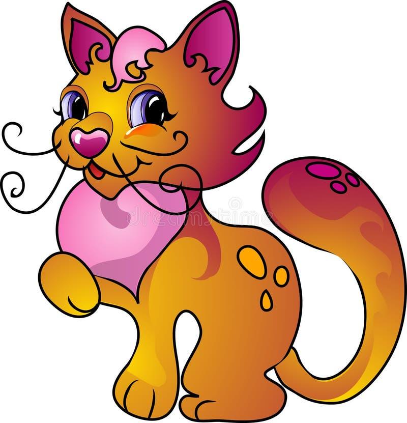Gatto del fumetto illustrazione di stock illustrazione di - Immagine del gatto a colori ...