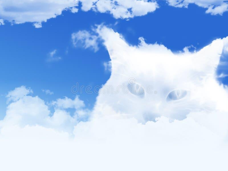 Gatto della nuvola illustrazione vettoriale