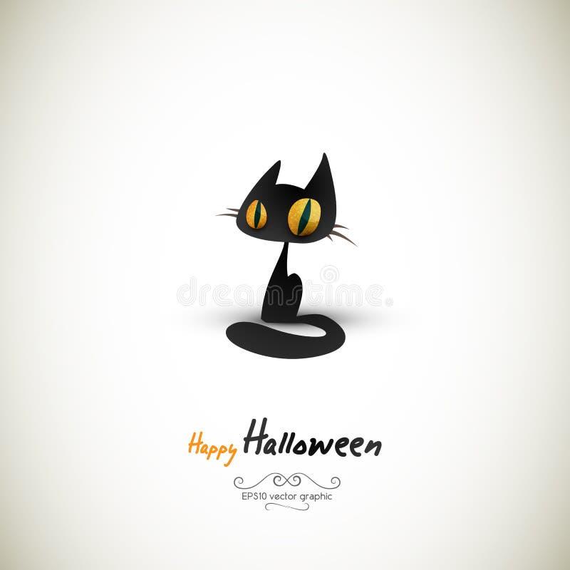 Gatto di Halloween | Gli strati separati hanno chiamato di conseguenza illustrazione di stock