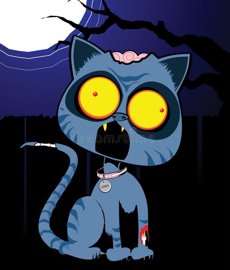 Gatto di Zom nella notte immagini stock