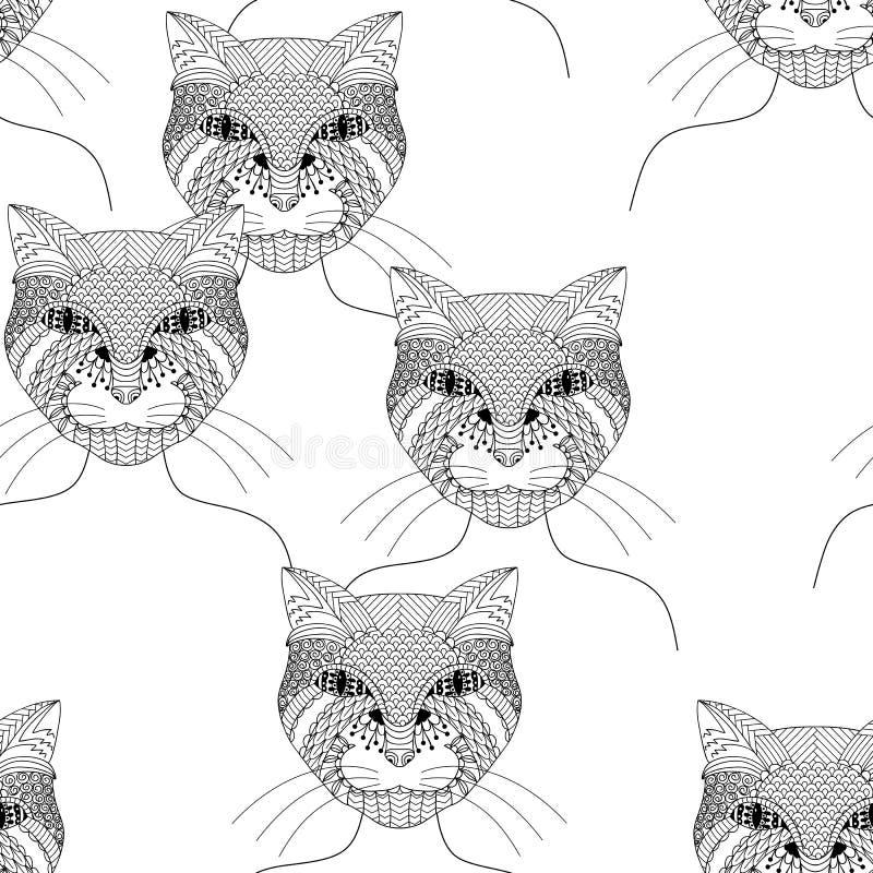 Gatto disegnato a mano illustrazione vettoriale