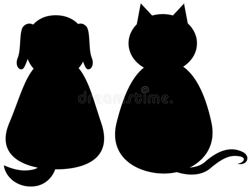 Gatto e cane fotografia stock